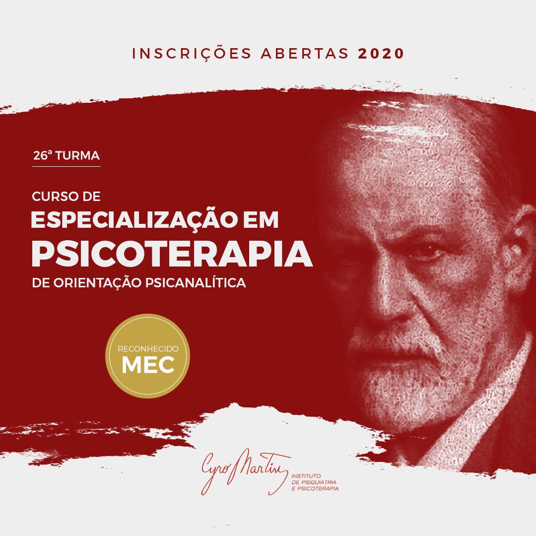 Especialização Psicoterapia Psicanalítica 2020